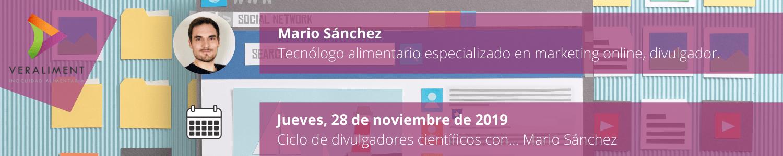 Ciclo Divulgadores Científicos Mario Sánchez