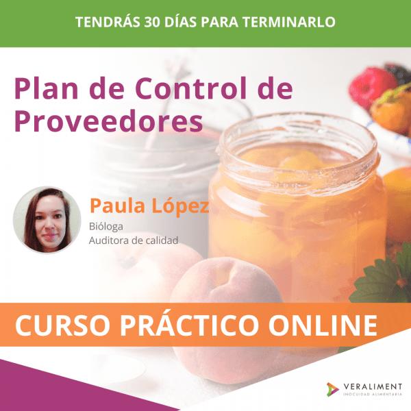 Plan de Control de Proveedores | 28 euros